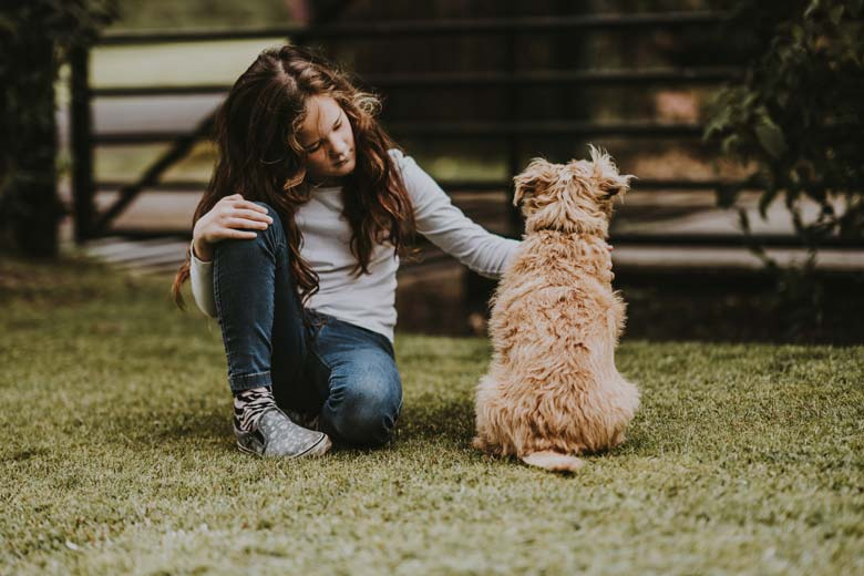 Dog Sitting, Perth Dog Sitting, Sitter and Dog Together