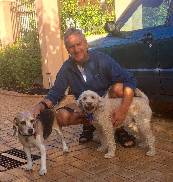 Mike with Dolly & Rusty