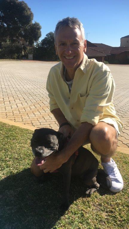 Mike with Nala